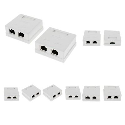 10x 1-Port 8P8C RJ45 Cat5e Network Cable Wall Surface Mount Box Adhesive