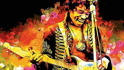 Jimi Hendrix rock blues music guitar flag banner wall hanging large 90cm X 150cm