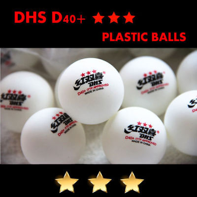 100Pcs Double Happiness DHS D40+ 3-Star Table Tennis Plastic Balls Color White