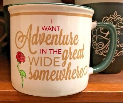 Disney Parks Princess Belle I Want Adventure In The Great Wide Somewhere Mug New