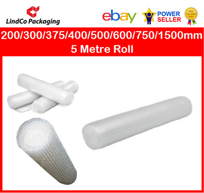 Bubble Wrap 200/300/375/400/500/600/700/750/1000/1500mm  5 Metre Roll NATIONWIDE