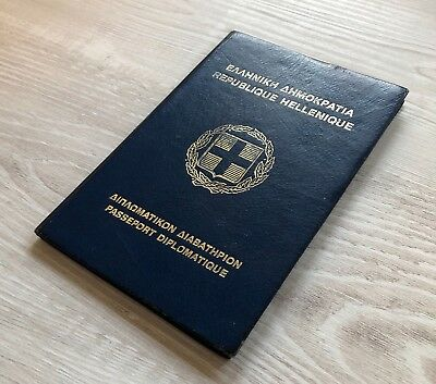 GREECE collectible 1991 DIPLOMATIC passport travel document