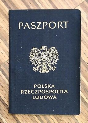POLAND collectible 1989 passport travel document (expired/invalid)