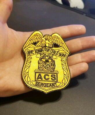 New York City ACS Police SGT Patch OBSOLETE Children's services NYC non NYPD