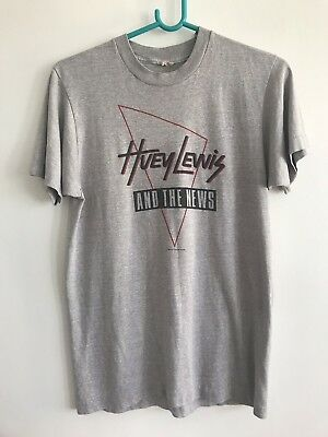 original 1986 Huey Lewis & The News t-shirt, vintage medium NOT REPRO!