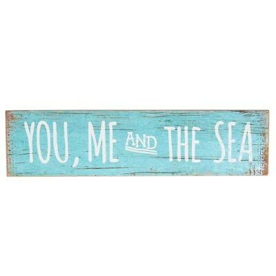 New Sass & Belle You Me And The Sea Sign Coastal Chic Hanging Rectangular Wooden