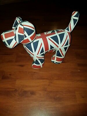 Union Jack Cat Or Dog Heavy Weighted Animal Door Stop Beautiful