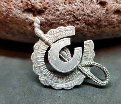 Victorian Solid Silver Horseshoe Pin/brooch Chester Hallmarked