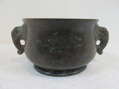 Antique Chinese Bronze Censer, Attr. to 17th century