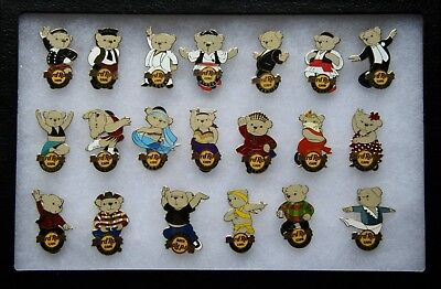 Hard Rock Cafe European Dancing Bear Pin Series 2008 - Complete - LE100 VHTF!
