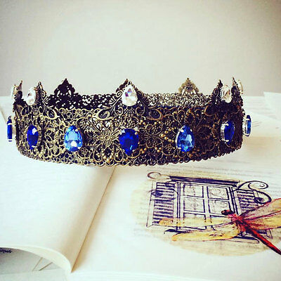 Medieval Crown Blue, Renaissance Crown, Custom Wedding, Blue Bridal Crown, Tudor