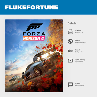 Forza Horizon 4 Xbox One & Windows 10 PC - Digital Code (Worldwide)