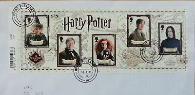 GB 2018 Commemorative Very fine used Harry Potter Miniature Sheet, on envelope.