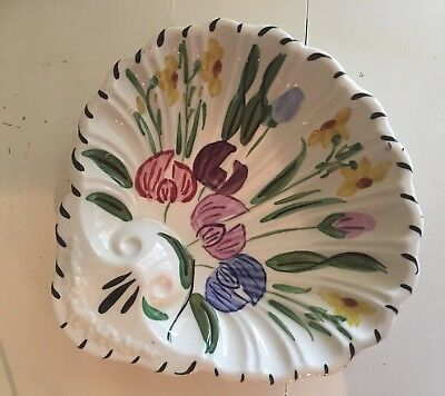 Vintage Blue Ridge Southern Pottery Easter Parade Shell Serving Bowl