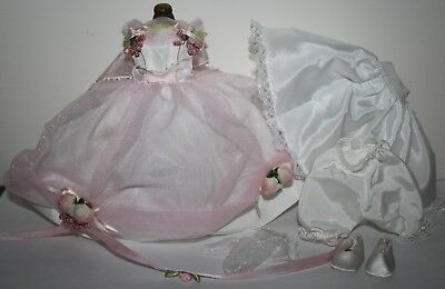 "8"" Madame Alexander MA Pink Gown Outfit tagged LITTLE WOMEN AMY"