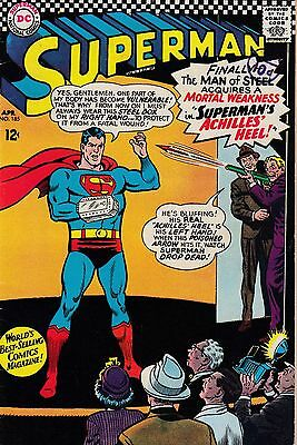 Superman #185 Vol 1 (1966) VG+  1st Silver Age Appearance of Toy Man