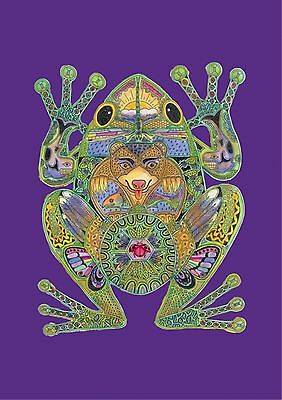 NEW LARGE TOLAND FLAG TOTEM  ANIMAL SPIRITS FROG BEAUTIFUL 28 x 40  MADE IN USA