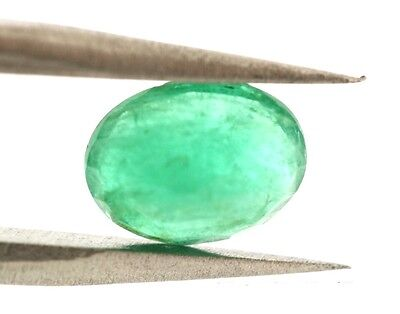 1.11 Carat Oval Faceted African EMERALD GEMSTONE