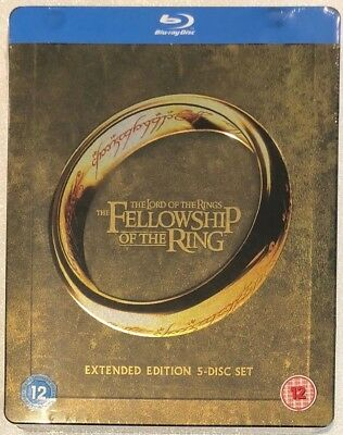 SEALED THE FELLOWSHIP of the Ring UK Steelbook (5-disc Extended Edition)  Bluray