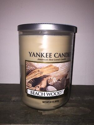 Yankee Candle 2 Wick Large Tumbler Beach Wood Smooth Soy Wax Fresh Scent