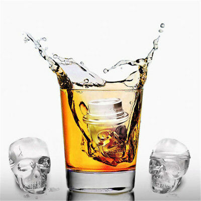 Skull Shape Silicone Ice Tray Mold Muffin Cake Chocolate Baking Mould Tool RTDE.