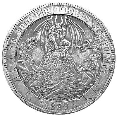Witches Orgeee V2 Morgan Dollar Head Tail Challenge Coin US SELLER FAST SHIPPING