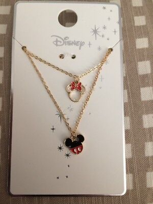 New Disney Pack Of 2 MICKEY AND MINNIE MOUSE Primark Necklaces