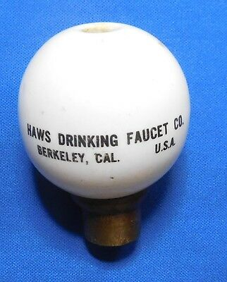 Vintage Haws Drinking Faucet Co. of Berkeley, CA Porcelain Bubbler Fountain Ball