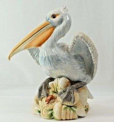"""Fitz and Floyd Seaboard Pelican 11"""" Tall - Stunning"""