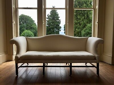 ANTIQUE 18th Century large settee sofa - Rose Uniacke linen - EXCELLENT & sound