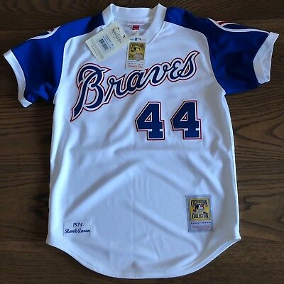BNWT Authentic Hank Aaron Mitchell & Ness Braves MLB Jersey Size 40