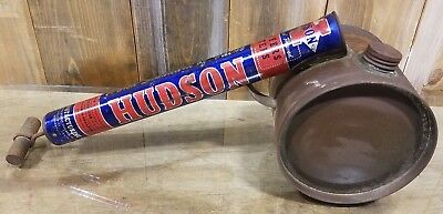 Vintage Hudson Bug Sprayer Duster old fashioned push handle USA 1950's Prop Deco