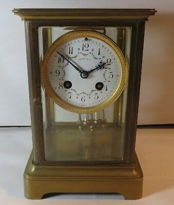 Lovely Vintage Tiffany Regulator Clock w Pendulum No Key