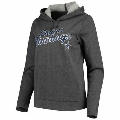 Dallas Cowboys Women's Amber Pullover Hoodie Sweatshirt - Heathered Charcoal