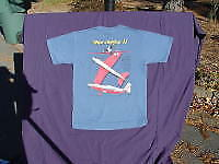 """Miss Ashley II"" Reno Air racer t-shirt. Small, large, and XL. Specify size."