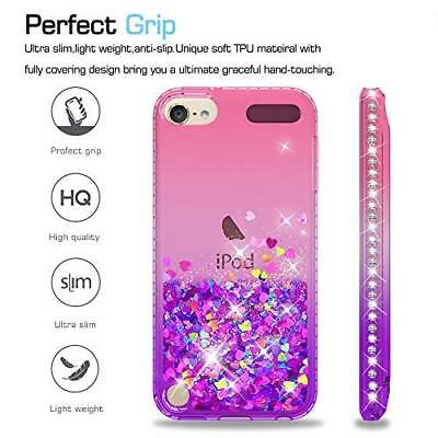 Case For iPod Touch 6th 5th Gen Tempered Glass Screen Protector Pink Purple NEW