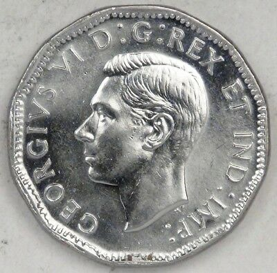 CANADA, George VI. 1945, 5 Cents, very lustrous