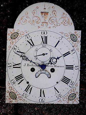12X16+1/2  inch 8DAY  c1810 LONGCASE   CLOCK dial + movement