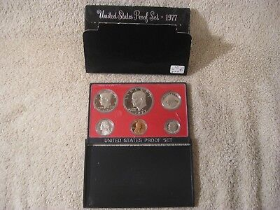 1977-S US Mint Proof-Set Beautiful  BU 6 Coins With-Box FREE SHIPPING
