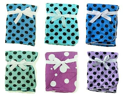 Newborn Infant Baby Boy Girl Soft Fleece Cotton Blanket Comforter Fur Back Wrap