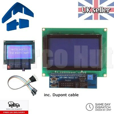 LCD 128x64 12864 Display ST7920 Blue Green Backlight Parallel Serial- Arduino Pi