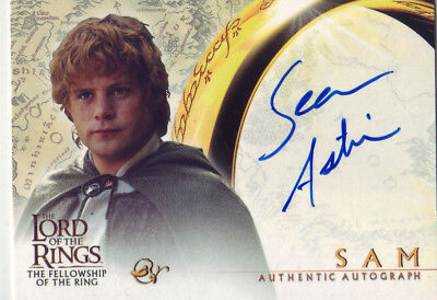 2001 AUTHENTIC AUTOGRAPH - LOTR SEAN ASTIN as SAM - FELLOWSHIP OF THE RING