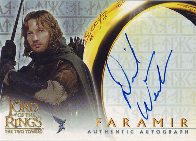 2002 AUTHENTIC AUTOGRAPH - LOTR DAVID WENHAM as FARAMIR - THE TWO TOWERS