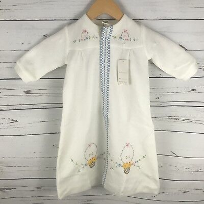 Vintage New Baby Boy Or Girl Day Gown Robe White Embroidered Or For Baby Dolls