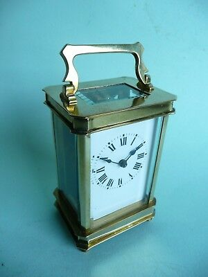 Antique 8 Day Brass Carriage Clock......................................ref.1315