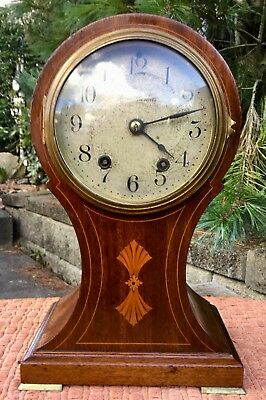 Seth Thomas Balloon Clock Inlaid Mahogany -- BEAUTIFUL