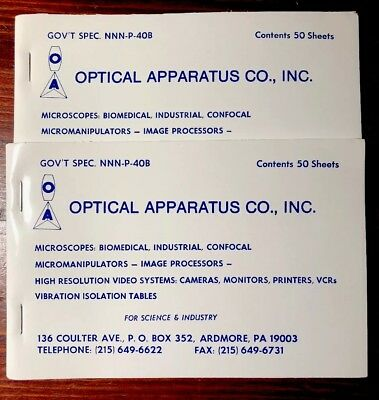 Optical Apparatus Lens Cleaning Paper Tissues X2 Tablets 50 Sheets Ea Microscope