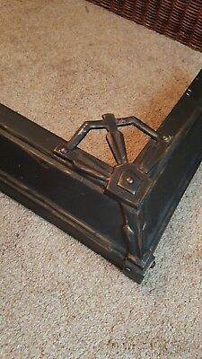 Brass Fireplace Fender Black/Gold Vintage Antique Art Deco