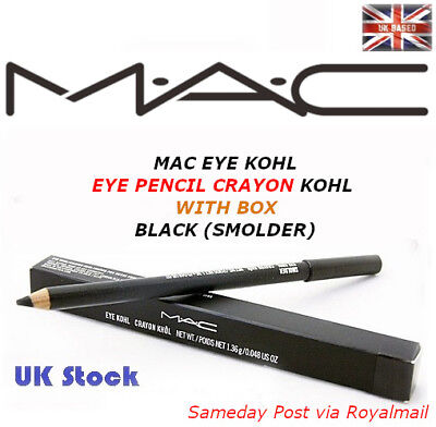 New **UK STOCK** MAC EYE KOHL BLACK (SMOLDER) - EYE PENCIL CRAYON KOHL WITH BOX