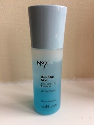 **Boots No7 Cleanse & Care Eye Makeup Remover - 30ml Travel Size**